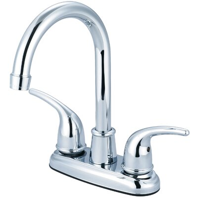 Double Handle Centerset Bar Faucet Finish: Chrome