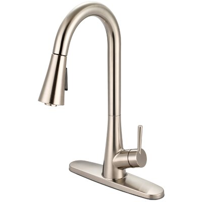 Single Handle Kitchen Faucet Finish: PVD Brushed Nickel