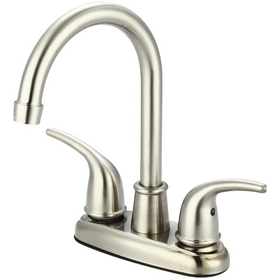 Double Handle Centerset Bar Faucet Finish: PVD Brushed Nickel