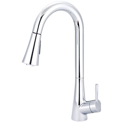 Single Handle Standard Kitchen Faucet with Deck Cover Plate Finish: Chrome