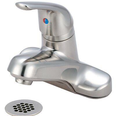 Single Handle Centerset Standard Bathroom Faucet with Drain Assembly Finish: PVD Brushed Nickel