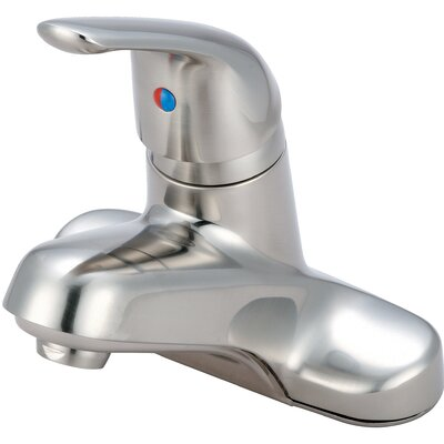 Single Handle Centerset Standard Bathroom Faucet Finish: PVD Brushed Nickel