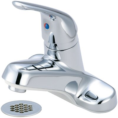 Single Handle Centerset Standard Bathroom Faucet with Drain Assembly Finish: Chrome