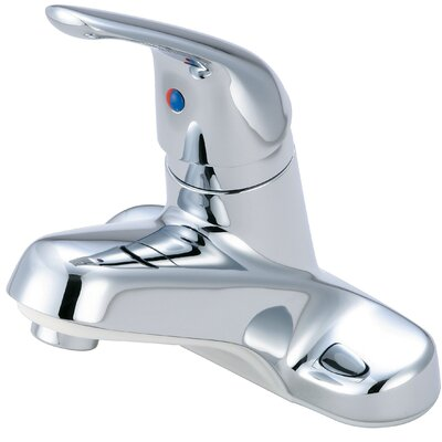 Single Handle Centerset Standard Bathroom Faucet Finish: Chrome
