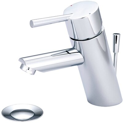 Single Handle Deck Mounted Bathroom Faucet Finish: Chrome