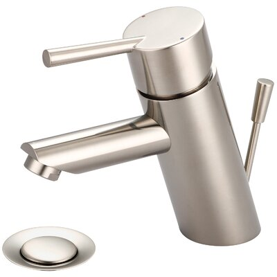 Single Handle Deck Mounted Bathroom Faucet Finish: PVD Brushed Nickel