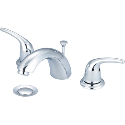 Double Handle Widespread Standard Bathroom Faucet with Drain Assembly Finish: PVD Brushed Nickel