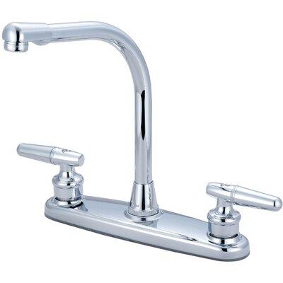 Double Handle Deck Mounted Centerset Standard Kitchen Faucet
