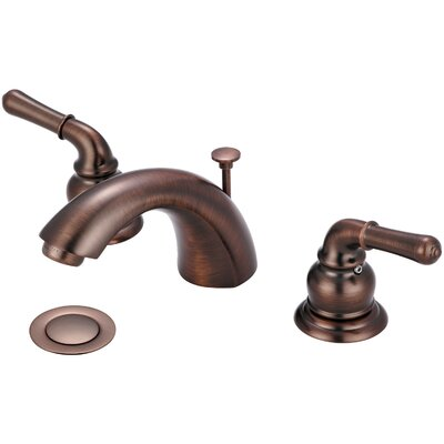 Double Handle Standard Bathroom Faucet with Drain Assembly Finish: Oil Rubbed Bronze