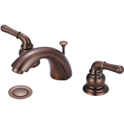 Double Handle Widespread Bathroom Faucet Finish: Oil Rubbed Bronze