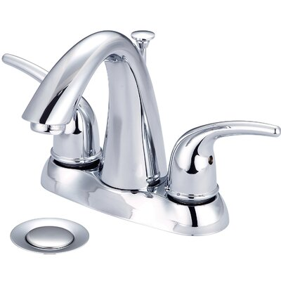 Double Handle Centerset Bathroom Faucet Finish: PVD Brushed Nickel