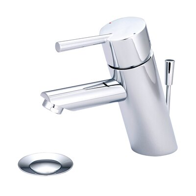 Single Handle Deck Mounted Standard Bathroom Faucet with Drain Assembly Finish: PVD Brushed Nickel