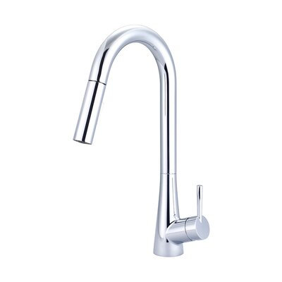 Pull-Down Single Handle Kitchen Faucet Finish: Brushed Nickel