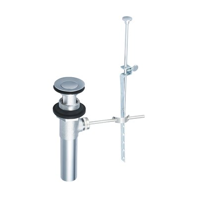 Pop-Up Bathroom Sink Drain With Overflow Finish: Chrome