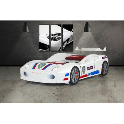 Enzo Police Race Twin Car Bed