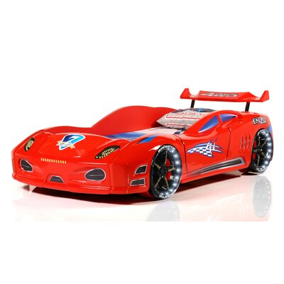 Enzo Twin Car Bed Color: Red