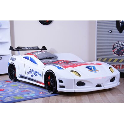 Enzo Twin Car Bed Color: White