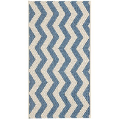 Mullen Blue/Beige Indoor/Outdoor Area Rug Rug Size: Rectangle 8 x 112
