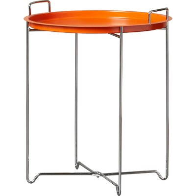 Molly Tray Table Color: Orange