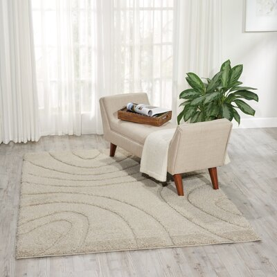 Tonette Abstract Cream Area Rug Rug Size: Square 67