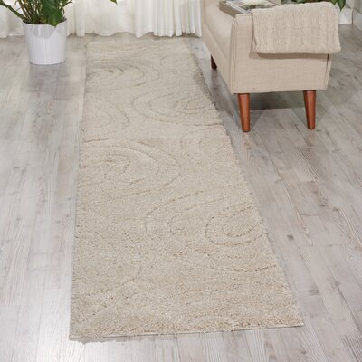Tonette Abstract Cream Area Rug Rug Size: Runner 22 x 117