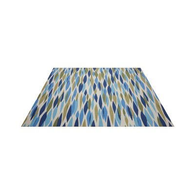 Gloria Blue/Green Indoor/Outdoor Area Rug Rug Size: Square 66 x 66