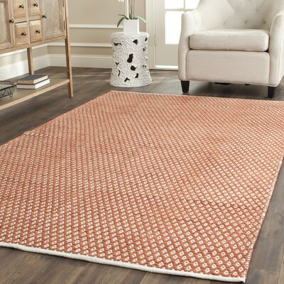 Amicus Hand Tufted Orange Area Rug Rug Size: Rectangle 6 x 9