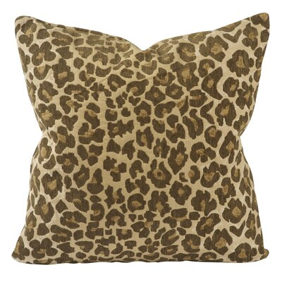 Woven Leopard Throw Pillow