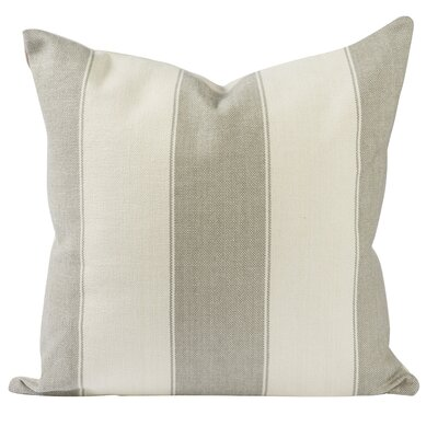 Custom Upholstery Cotton Throw Pillow Size: 18 H x 18 W, Color: Grey