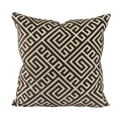 Geometric Fretwork Throw Pillow