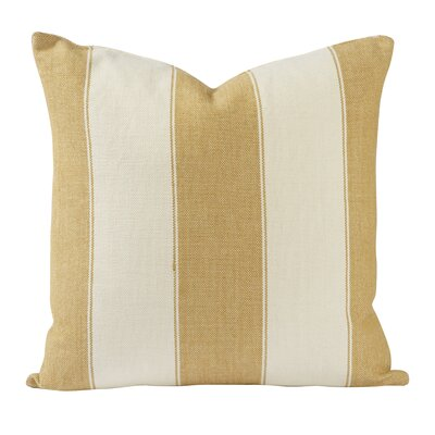 Custom Upholstery Cotton Throw Pillow Color: Gold, Size: 20 H x 20 W