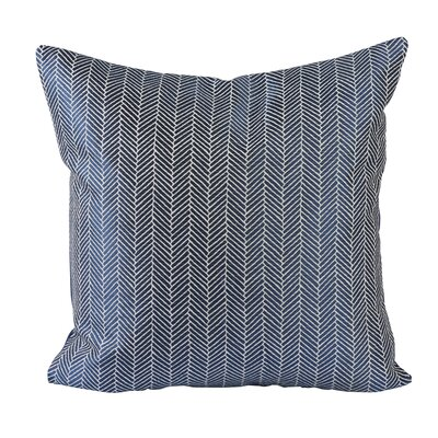 Designer Jacquard Throw Pillow Color: Blue