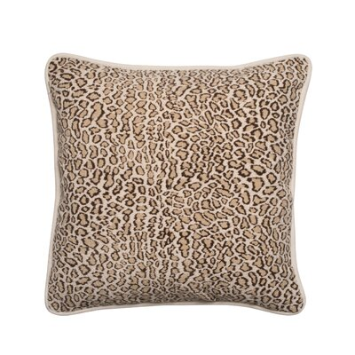 Faux Fur Leopard Designer Filled Throw Pillow