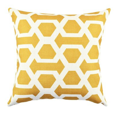 Ogee Throw Pillow Size: 18 H x 18 W x 6 D, Color: Yellow