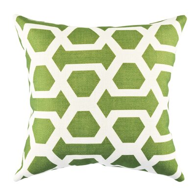 Ogee Throw Pillow Size: 20 H x 20 W x 6 D, Color: Green
