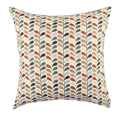 Leaf Throw Pillow Size: 18 H x 18 W x 6 D, Color: Gray
