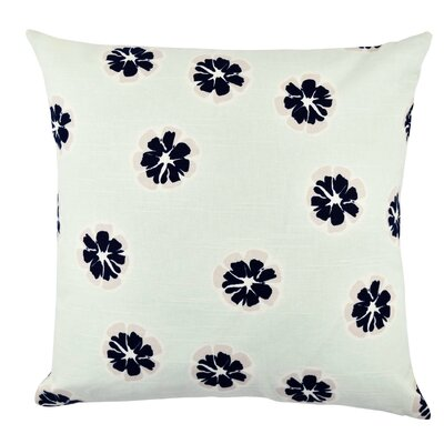 Flower Cotton Throw Pillow Size: 18