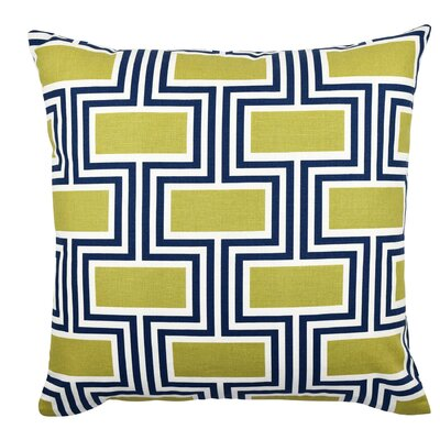 Geometric Cotton Throw Pillow Size: 18 H x 18 W x 6 D
