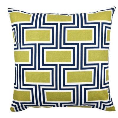 Geometric Cotton Throw Pillow Size: 18 H x 18 W x 6 D