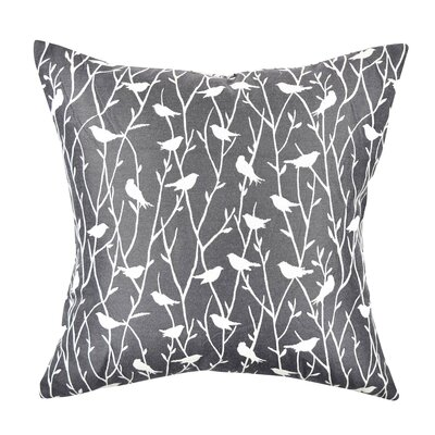 Bird Jacquard Throw Pillow Size: 20 H x 20 W x 6 D, Color: Black