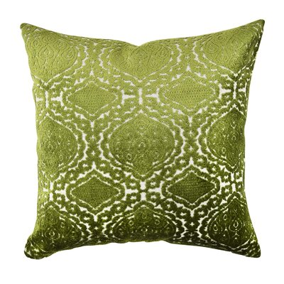 Damask Flocked Throw Pillow Size: 18 H x 18 W x 6 D