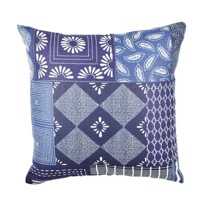 In My Own Style� Quilt Inspired Throw Pillow Size: 18 H x 18 W x 6 D, Color: Blue