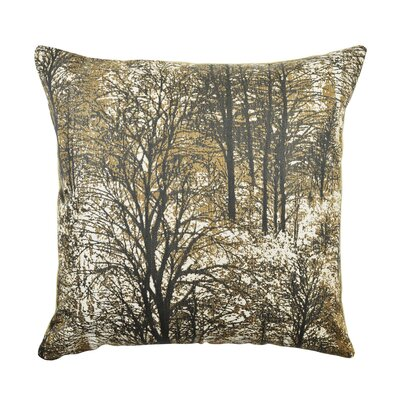 Printed Woods Throw Pillow Size: 18