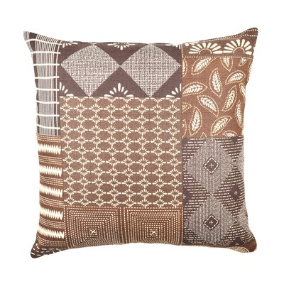 Quilt Inspired Throw Pillow Size: 18 H x 18 W x 6 D, Color: Brown