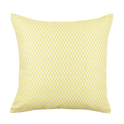 Lattice Pattern Jacquard Throw Pillow Size: 20 H x 20 W x 6 D, Color: Yellow