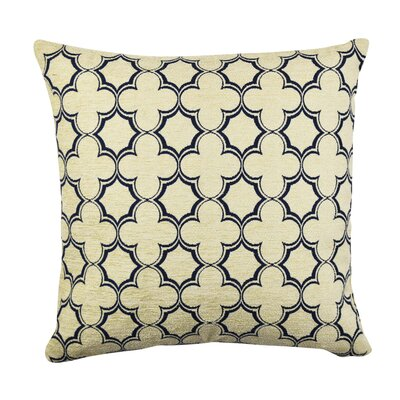 Classic Quartrefoil Throw Pillow Size: 18 H x 18 W x 6 D