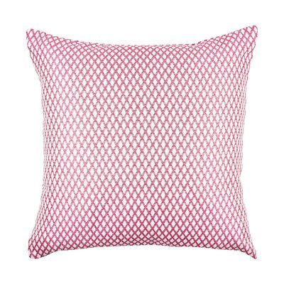In My Own Style� Lattice Pattern Jacquard Throw Pillow Size: 18 H x 18 W x 6 D, Color: Pink