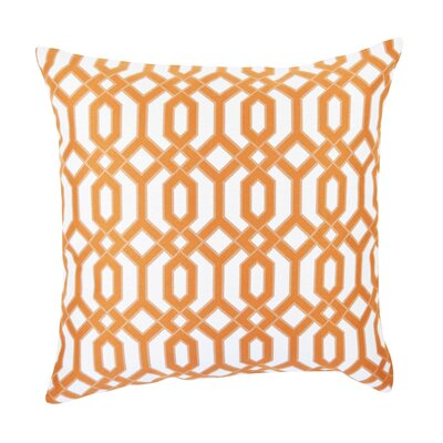 Circle Link Inspired Throw Pillow Size: 20 H x 20 W x 6 D, Color: Orange