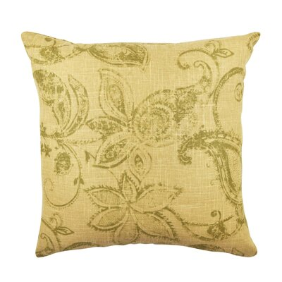 Floral Throw Pillow Size: 18 H x 18 W x 6 D