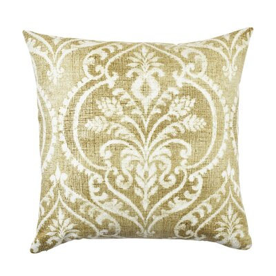 Damask Throw Pillow Size: 18 H x 18 W x 6 D, Color: Tan